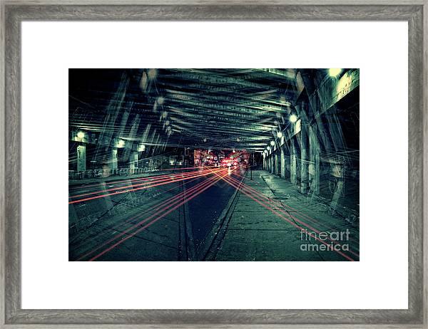 Urban Crossfire Framed Print