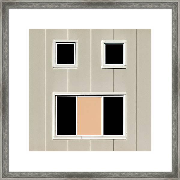 Urban Face Framed Print