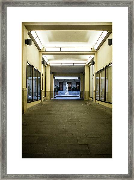 Framed Print featuring the photograph Urban Framing by Matthew Wolf
