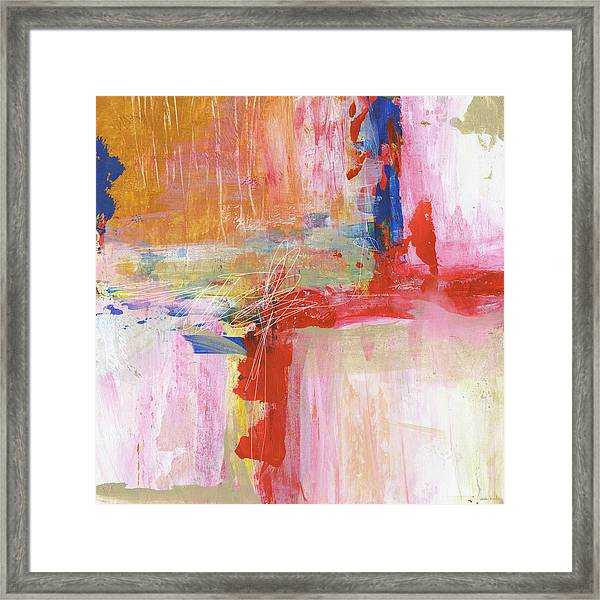 Urban Picnic-abstract Art By Linda Woods Framed Print