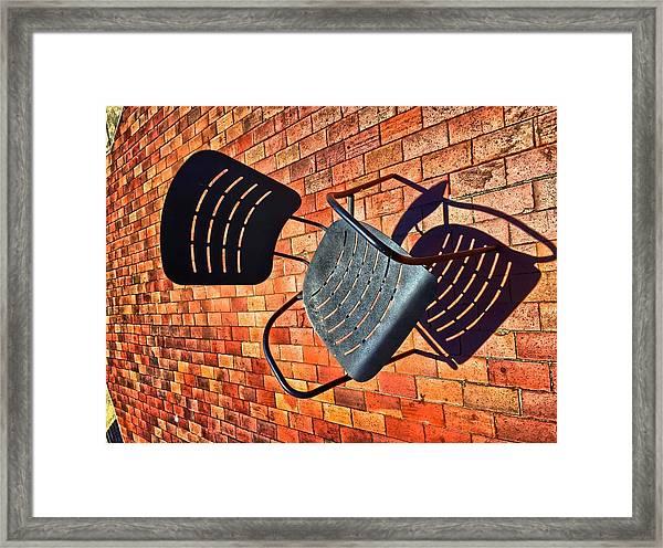 Urban Seating  Framed Print