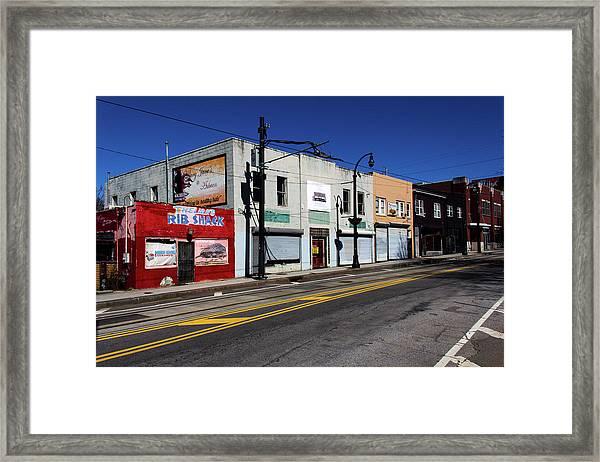 Urban Street Life Framed Print