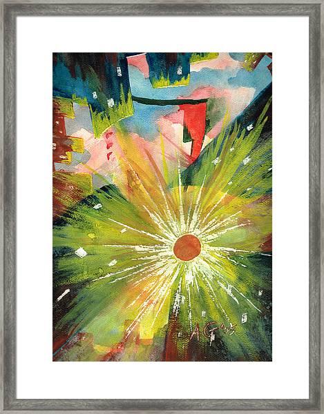 Urban Sunburst Framed Print