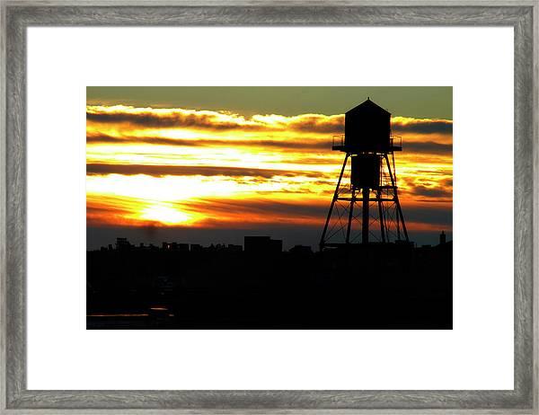 Urban Sunrise Framed Print