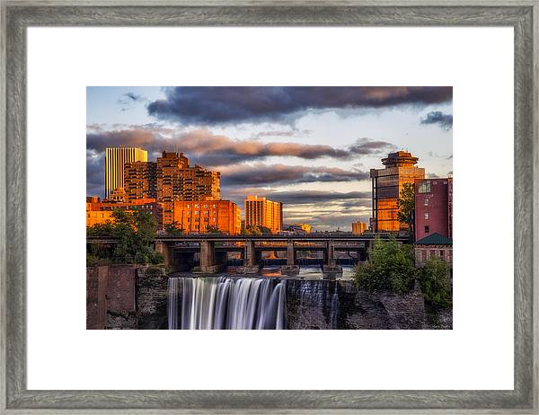 Urban Waterfall Framed Print