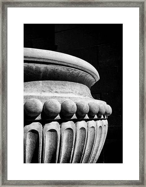 Urn At The Cathedral Framed Print