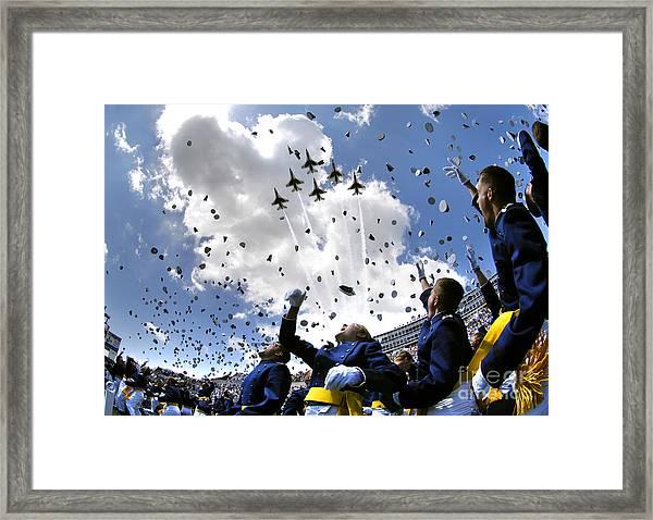 U.s. Air Force Academy Graduates Throw Framed Print