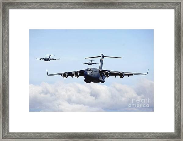U.s. Air Force C-17 Globemasters Framed Print