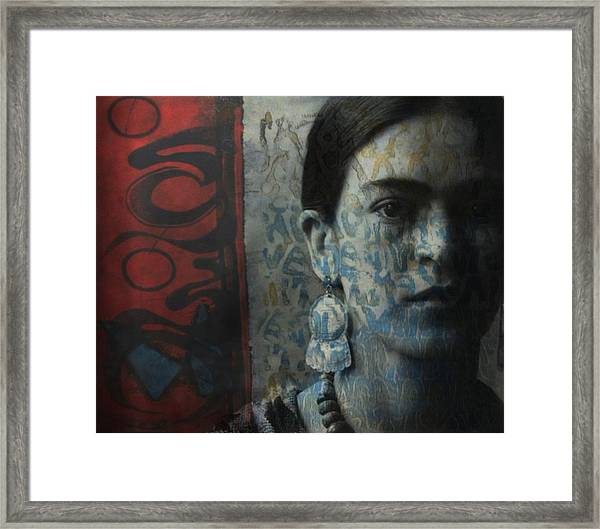 Us And Them - Frida Kahlo Framed Print