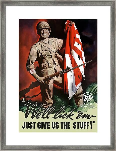 Us Army -- World War Two Propaganda Framed Print
