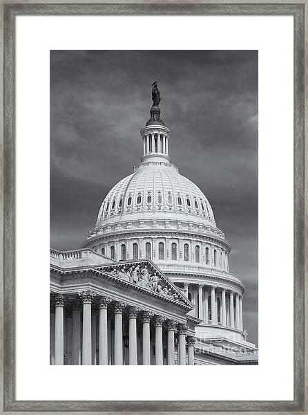 Us Capitol Building Iv Framed Print
