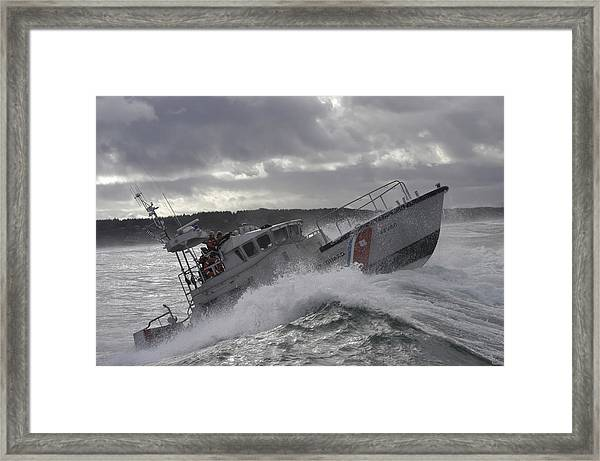 U.s. Coast Guard Motor Life Boat Brakes Framed Print