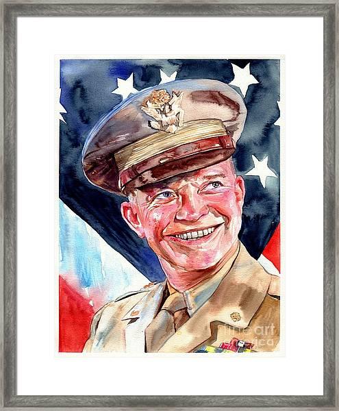 Us General Dwight D. Eisenhower Framed Print