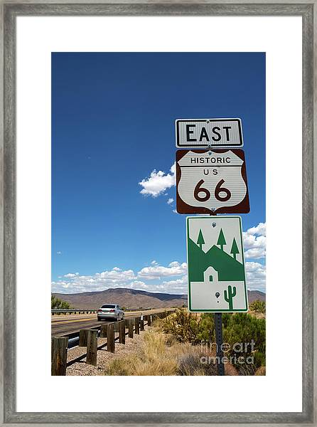 Us Route 66 Sign Arizona Framed Print