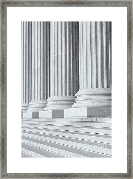 Us Supreme Court Building Iv Framed Print