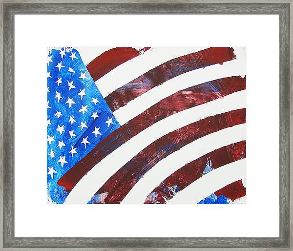 Framed Print featuring the painting Usa Forever by Candace Shrope