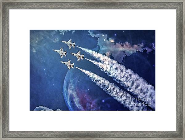 Usaf Thunderbirds Diamond Formation Framed Print