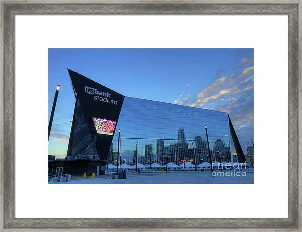 Usbank Stadium Morning Framed Print
