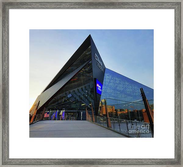 Usbank Stadium The Approach Framed Print