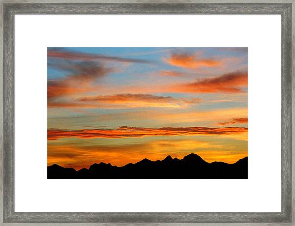 Usery Sunset II Framed Print