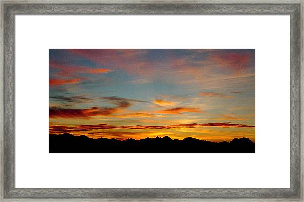 Usery Sunset Framed Print