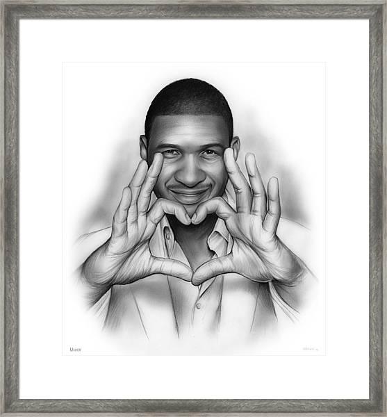 Usher Framed Print