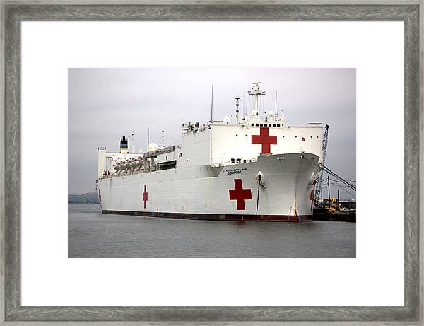 Usns Comfort  Baltimore Maryland Framed Print by Wayne Higgs