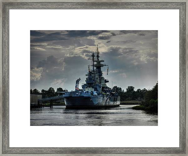 Framed Print featuring the photograph U.s.s. North Carolina 001 by Lance Vaughn