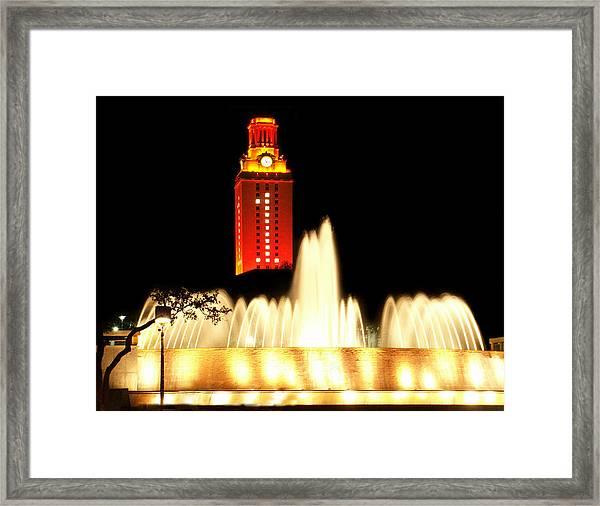 Ut Tower Championship Win Framed Print
