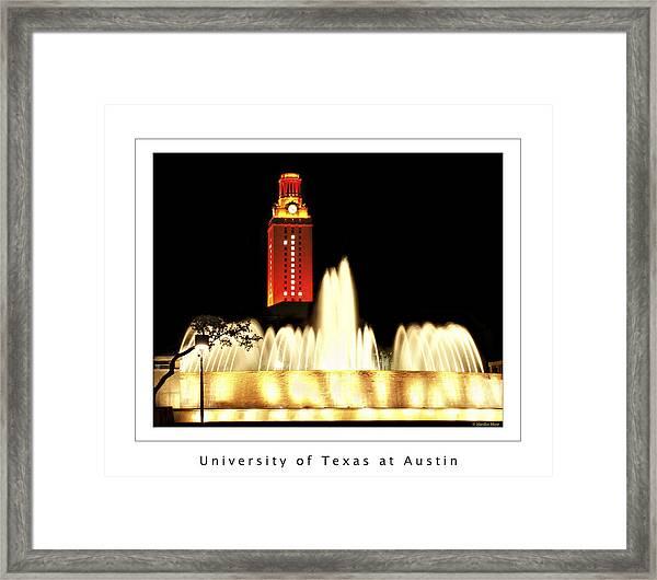 Ut Tower Poster Framed Print