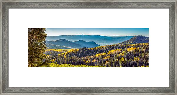 Utah Autumn Panorama Framed Print