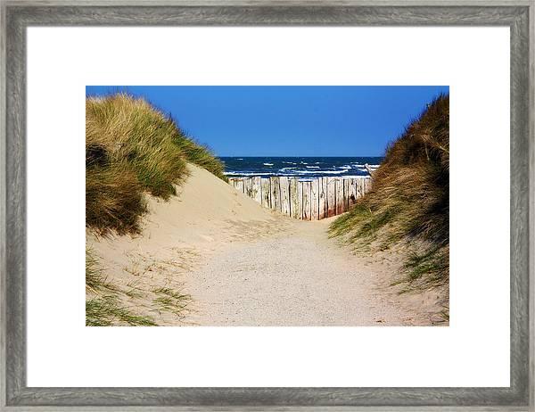 Utah Beach Normandy France Framed Print
