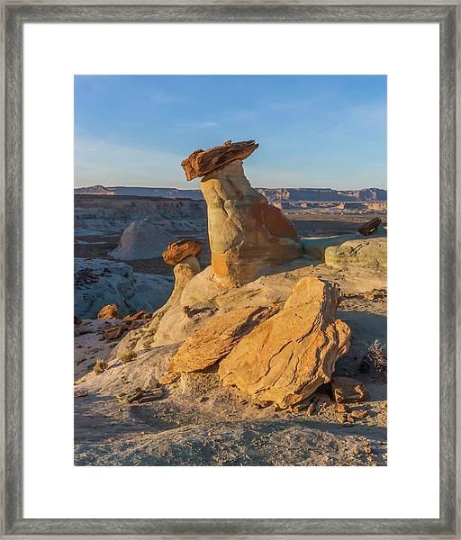 Utah Hoodoos At Sunset Framed Print