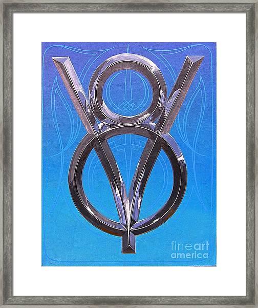 V Eight Power Framed Print