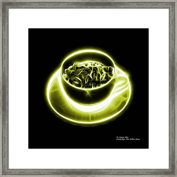 V2-bb-electrifyin The Coffee Bean-yellow Framed Print