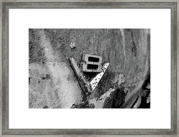 V8 Emblem Framed Print