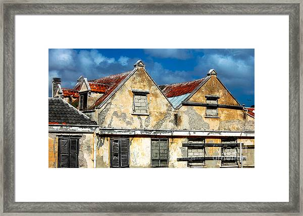 Vacancy By Curacao  Framed Print by Steven Digman