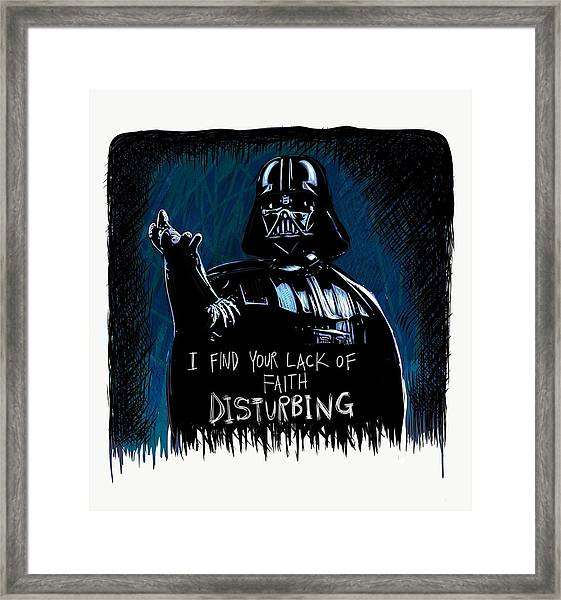 Framed Print featuring the digital art Vader by Antonio Romero