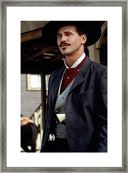 Val Kilmer As Doc Holliday Tombstone Set 1993-2015 Framed Print