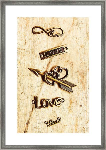 Valentine Pendants Framed Print