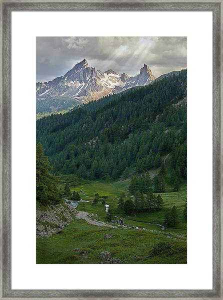Valley In The French Alps Framed Print