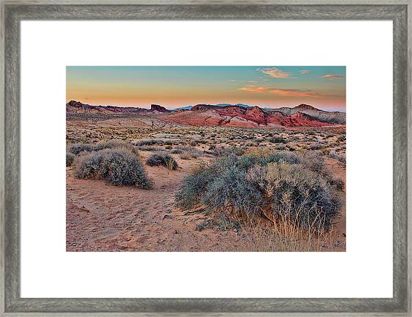 Valley Of Fire Sunset Framed Print