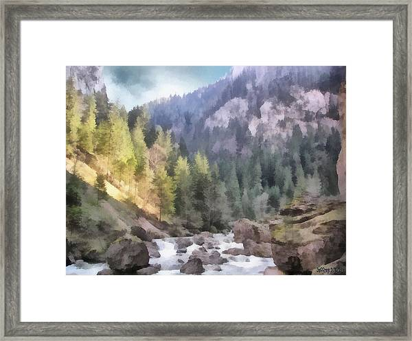 Valley Of Light And Shadow Framed Print