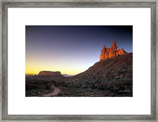 Valley Of The Gods Sunrise Framed Print