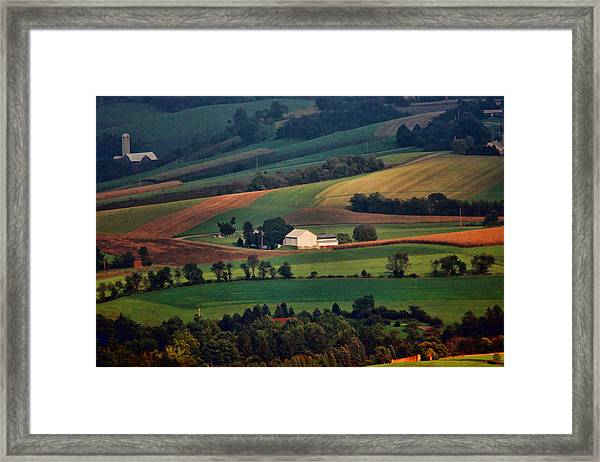Framed Print featuring the photograph Valley by William Jobes