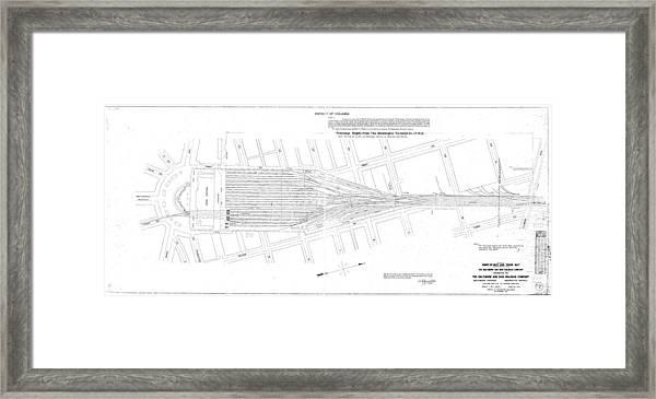Valuation Map Washington Union Station Framed Print
