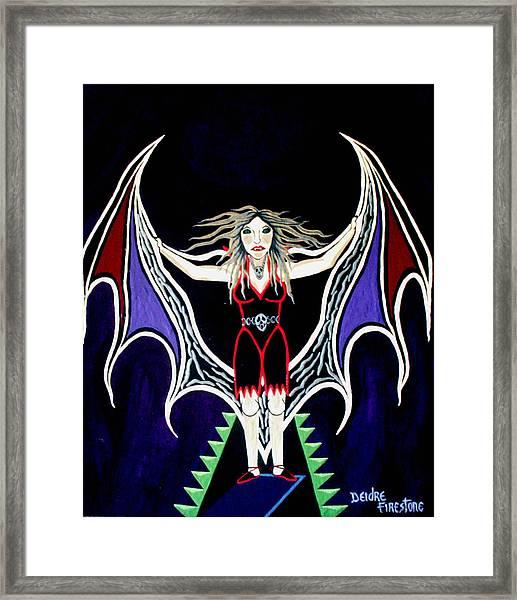 Vampire Lady Of Death Framed Print by Deidre Firestone