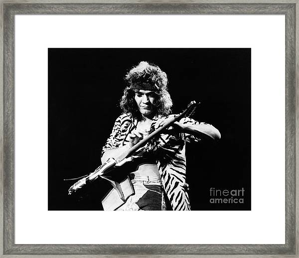 Eddie Van Halen  Framed Print by Chris Walter