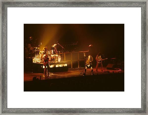 Van Halen Opening For Black Sabbath Framed Print