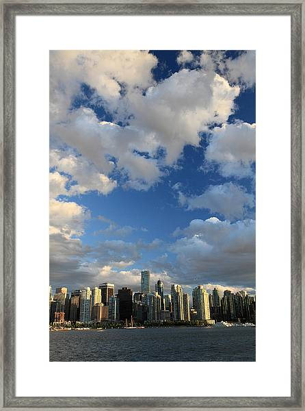 Vancouver City At Sunset Framed Print by Pierre Leclerc Photography